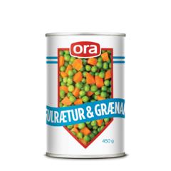 Ora gulrætur og grænar 450g