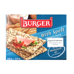 Burger hrökkbrauð spelt