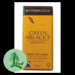 Green & Black Lífrænt mjólkursúkkulaði Butterscotch  37%