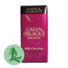 Green & Black Lífrænt Rúsínu & Hesilhnetu súkkulaði
