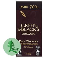 Green & Black Lífrænt Dökkt súkkulaði 70%