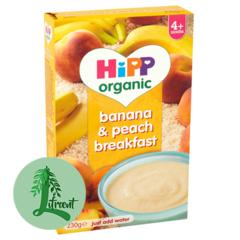 HIPP banana og ferskju grautur 230 g