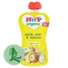 HIPP belgur epli, perur og bananar 100 g