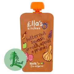 Ella's Kitchen butternut - gulrætur - epli og sveskjur 120 g