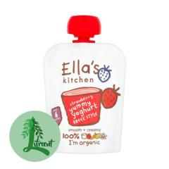 Ella's Kitchen grísk jógúrt jarðarber 90 g