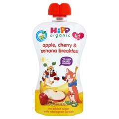 HIPP belgur epli, bananar, kirsuber, morgunkorn 100 g.