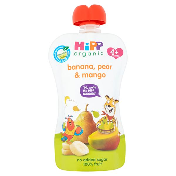 HiPP belgur bananar, perur og mangó