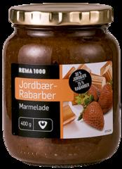 REMA 1000 Jarðarberja-og rabbabaramarmelaði