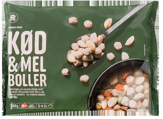 REMA 1000 Kjöt-og mjölbollur frosnar