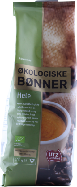 REMA 1000 Lífrænar kaffibaunir utz