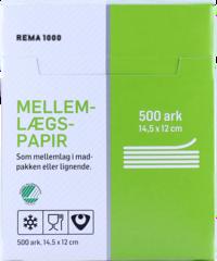 REMA 1000 Millilagspappír