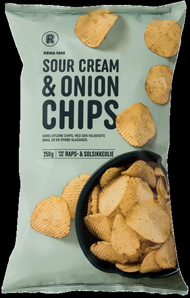 REMA 1000 Sour cream & Onion Chips