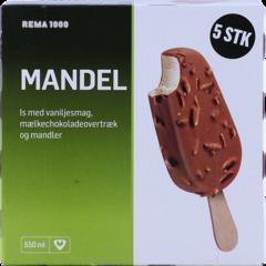 REMA 1000 Íspinnar möndlu 5 stk.