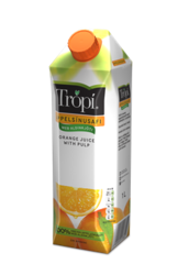 Trópí Appelsínu með aldinkjöti 1l