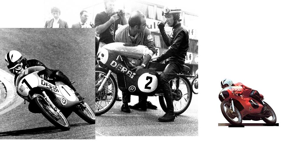 Ángel Nieto compitiendo en la categoría de 125cc