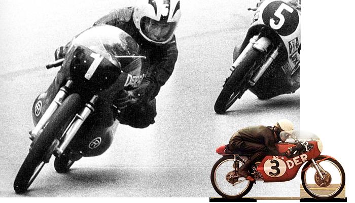 Ángel Nieto compitiendo en la categoría 50cc y 125cc