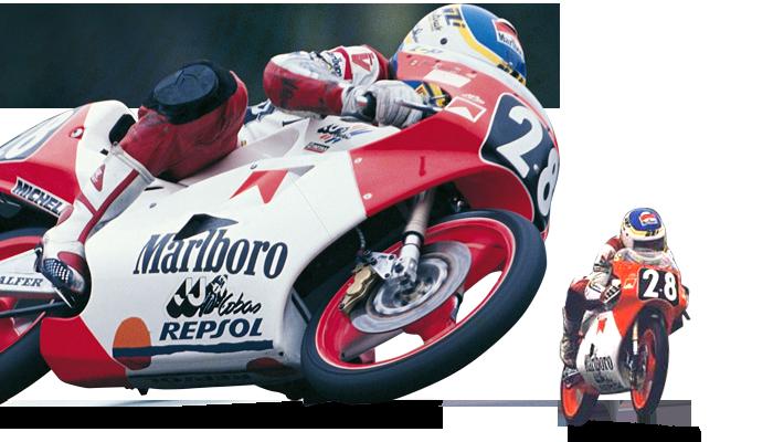 Álex Crivillé compitiendo en la categoría 125cc