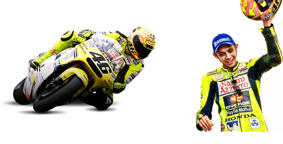 Valentino Rossi compitiendo en la categoría 500cc
