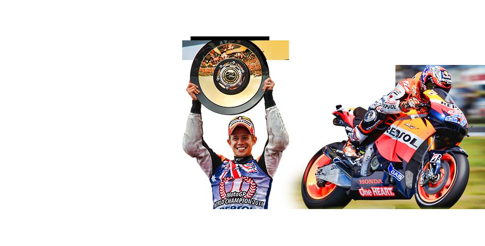 Casey Stoner compitiendo en la categoría MotoGP