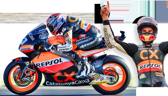 Marc Márquez compitiendo en la categoría Moto2