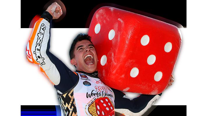 Marc Márquez, el pentacampeón más joven de la historia, compitiendo en la categoría MotoGP