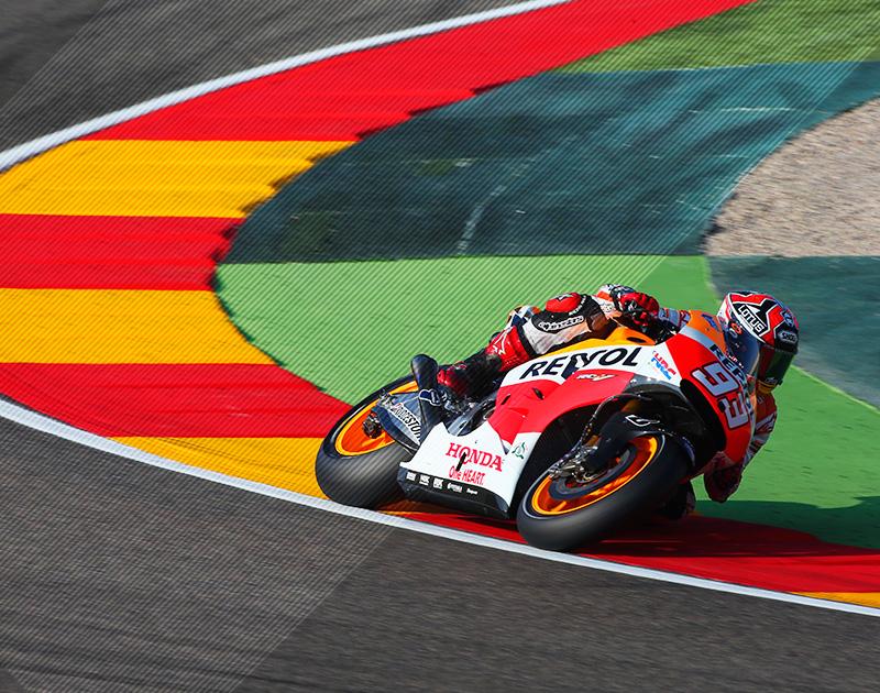 Marc Márquez en el circuito de Motorland Aragón