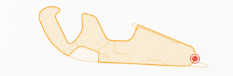 Curvas 16 y 17 en circuito de Motorland Aragón