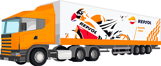 Camión de Repsol Racing Tour