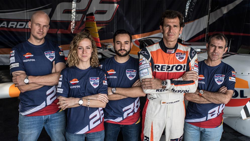 Juan Velarde's team