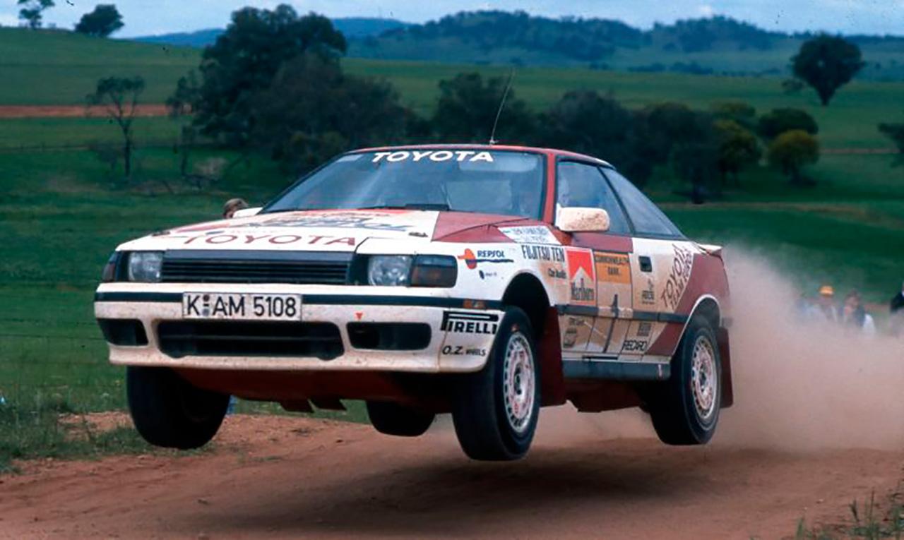 Toyota de Kankkunen en el Rally de Australia 1989