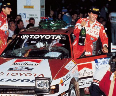 Carlos Sainz y Luis Moya en el Toyota Celica
