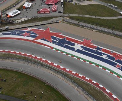 vista desde el aire de circuito de competición