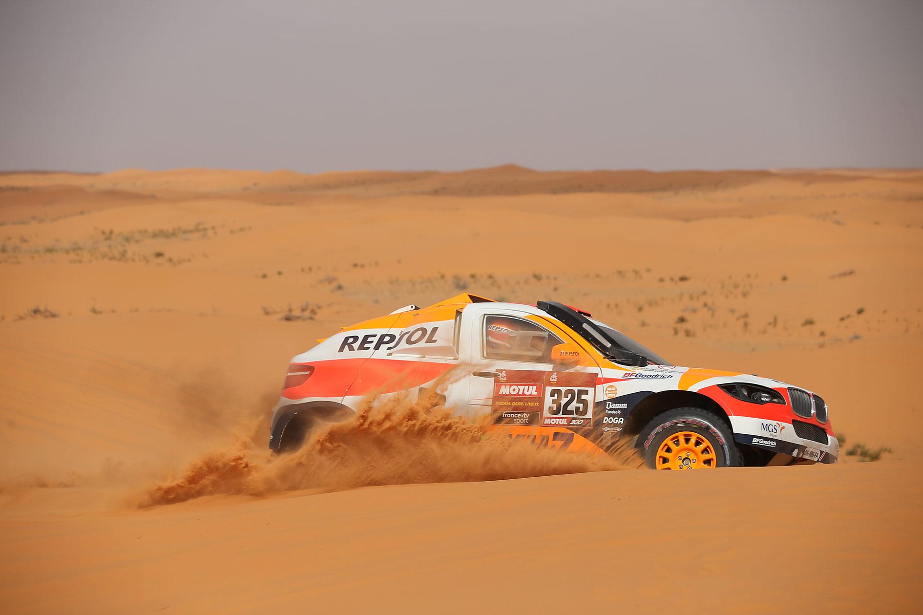 El Repsol Rally team compite en el Dakar 2020