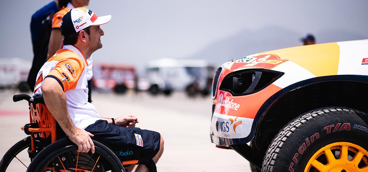 Isidre Esteve, feliz y tranquilo en la salida del Dakar 2019