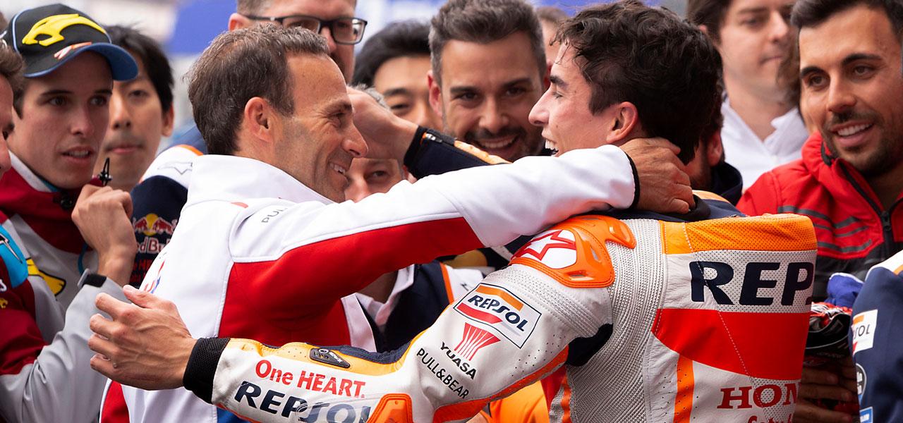"""Alberto Puig: """"Fue especial estar en el podio con Marc"""""""