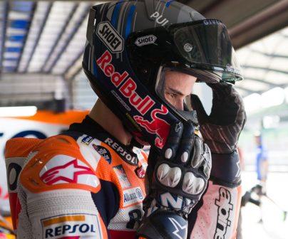 Álex Márquez en atuendo Repsol Honda en test de pretemporada