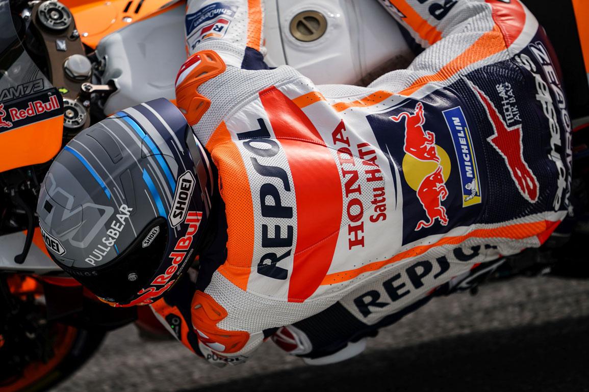 Álex márquez en pista sobre la RC213V