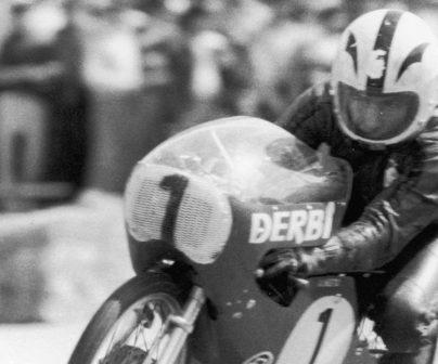 Ángel Nieto con moto número 1
