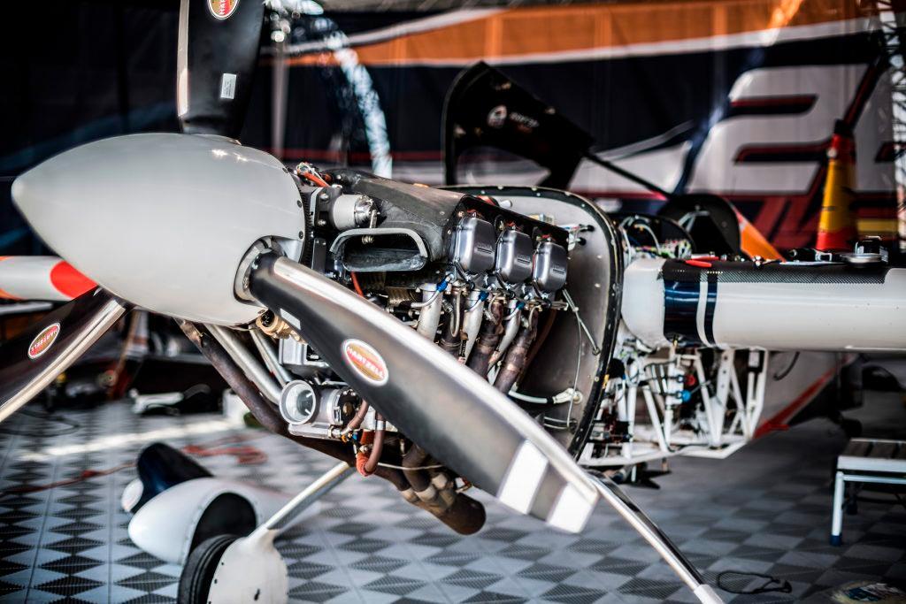 Detalle de la hélice y motor del Edge 540