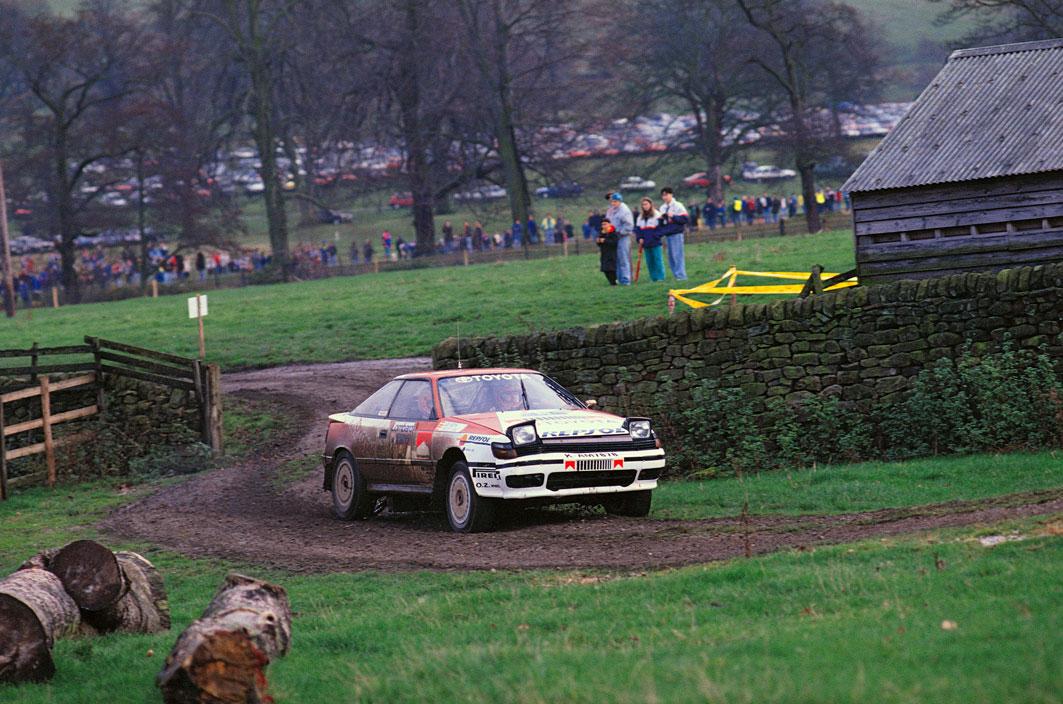 Carlos Sainz en el Rally RAC en 1990