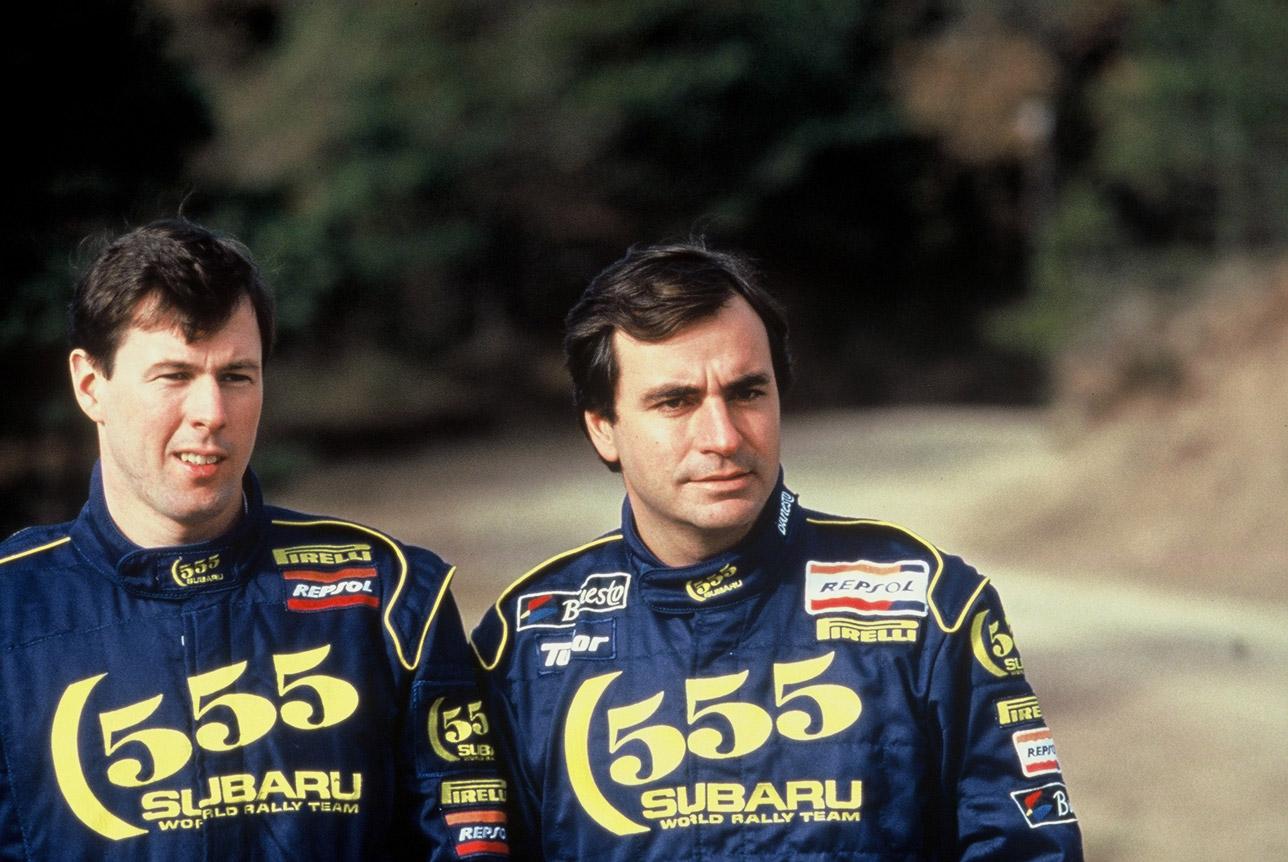Carlos Sainz y Colin McRae en Subaru