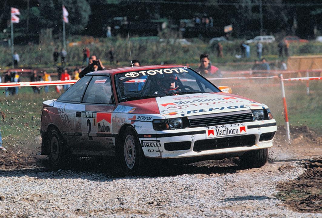 Carlos Sainz compitiendo en el Rally de Portugal en 1990