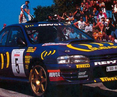 Coche de Carlos Sainz en el Mndial de Rallys 1995
