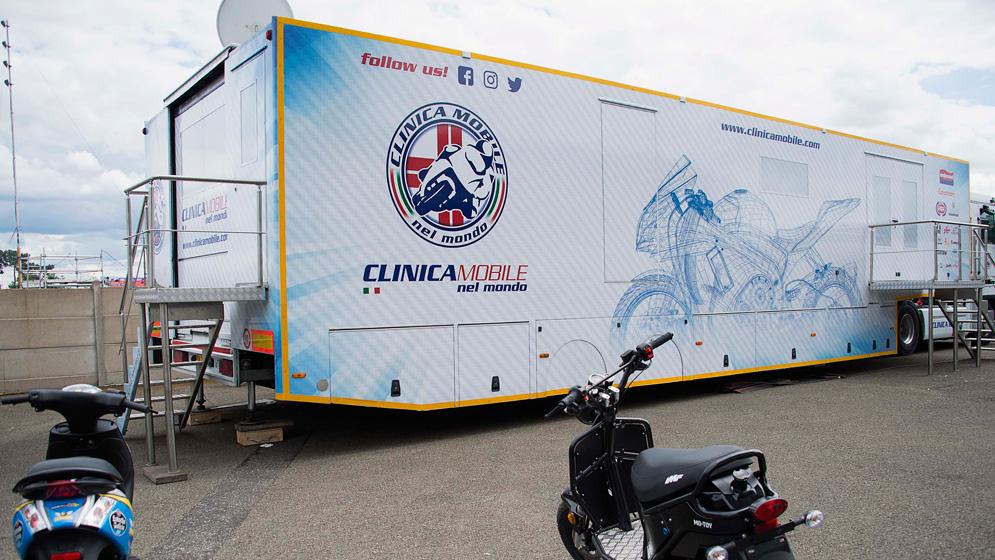 Motorhome de la Clínica Móvil MotoGP