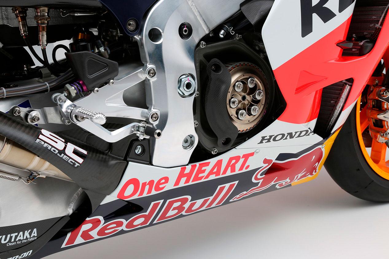 Detalle del embrague de una Honda RC213V