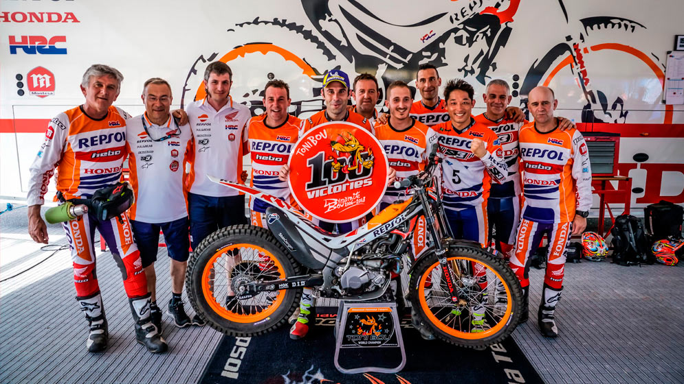 Toni Bou reached 100 victories at the Trial World Championship