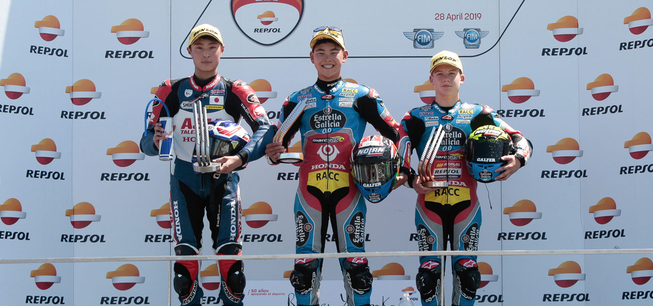Kunii, Yamanaka, Pons and Guevara succeed at the FIM CEV Repsol