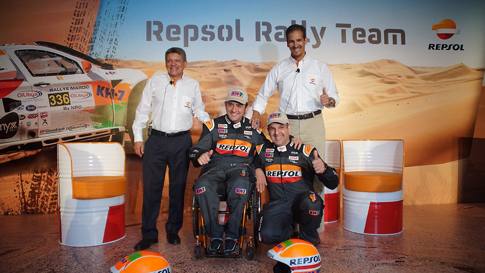 Repsol Rally Team presents their members for their Dakar proyect in Peru