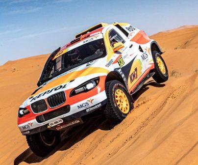 Isidre Esteve en el sodicar BV6 en el Rally de Marruecos