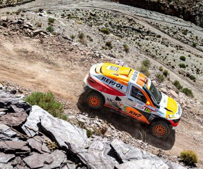 isidre esteve compitiendo en el Rally de Marruecos